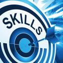 Stock Illustration of skills target means aptitude, competence and abilities