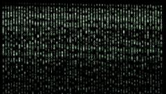Binary code Matrix style background. Stock Footage