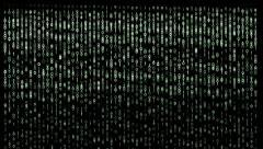 Binäärikoodi Matrix-tyyliin tausta. Arkistovideo