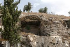 the original mountain golgotha - stock photo