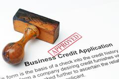 Credit application - approved Stock Photos