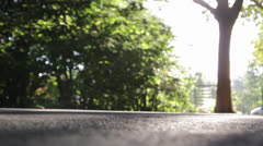 Mini Cooper BMW Car Driving By - stock footage