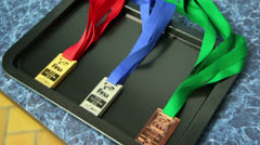 Winner medals of World Series of FINA Diving Stock Footage
