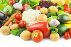 healthy eating / fresh vegetables - stock photo