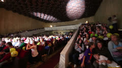 Spectators sit in hall of theater during of Festival Stock Footage