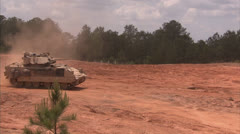 Military, M2 Bradley on patrol - stock footage