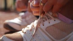 Sport Shoes Outdoor Stock Footage