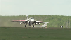 Military, Two fighter bombers taking off. Stock Footage