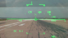 Military, F18 HUD on take off Stock Footage