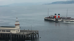 Paddle steamer Waverley (7) Stock Footage