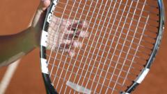 Tennis Rackot Stock Footage