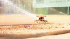 Sprinkler on Court Stock Footage