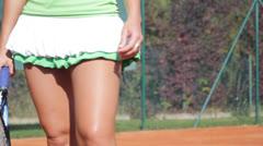 Tennis Lady Stock Footage