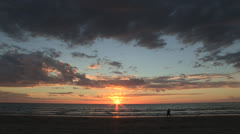 Sunset on a beach in South Australia Stock Footage