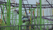 Stock Video Footage of Rollercoaster at fair