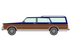 retro estate car. - stock illustration
