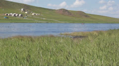 Khakassia. On the shore of the Tus Lake Stock Footage