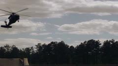 UH-60 - Blackhawk Landing 02 Stock Footage