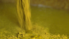 Mustard Powder Being Poured HD Video Stock Footage