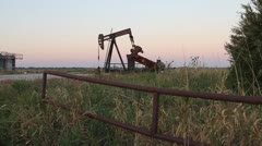 Oil Well Rig Stock Footage