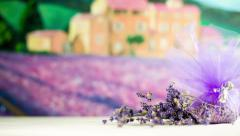 Simple Lavender Decoration Present Stock Footage