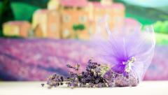 Lavandula present for home decoration sliding on Stock Footage