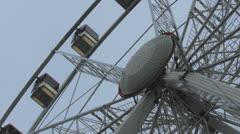 Ferris wheel from below Stock Footage
