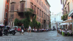 Downtown Rome Stock Footage