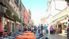 Italian Street Cafe and Market Stock Footage