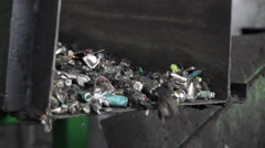 Battery Recylce Center Line Stock Footage
