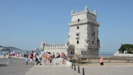 Stock Video Footage of Belem Tower