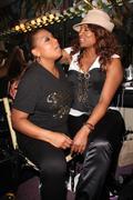 Queen latifah, 'yoyo' aka yolanda whitaker.queen latifah's birthday party gre Stock Photos