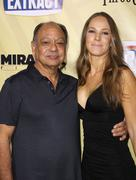 "Stock Photo of cheech marin and wife natasha rubin.""extract"" los angeles premiere.held at th"