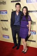 "Jason bateman and wife amanda anka.""extract"" los angeles premiere.held at the Stock Photos"