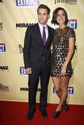"Jessica stroup and dustin milligan .""extract"" los angeles premiere.held at th Stock Photos"