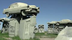 Carhendge monument in Nebraska Stock Footage