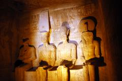 egypt travel photos - the great temple of abu simbel - stock photo