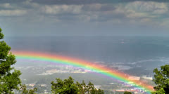Rainbow over Chattanooga Tn seen from Lookout Mountain Stock Footage