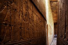 egypt travel photos - edfu - stock photo