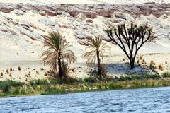 egypt travel photos - river nile - stock photo