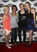 Kristen kaza, sania mirza, ky dickens and katie haggis .27th annual los angel Stock Photos