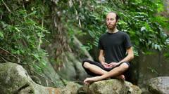OM Mantra Meditation Stock Footage