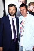 "judd apatow, adam sandler.""funny people"" los angeles premiere.held at the arc - stock photo"