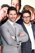 """Stock Photo of seth rogen, eric bana.""""funny people"""" los angeles premiere.held at the arcligh"""