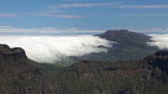 La Palma landscape with clouds, Canary Islands. Stock Footage