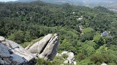 Sintra forest and rock formation Stock Footage