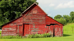 Old red rustic barn Stock Footage