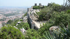 Castle of the Moors (Sintra) Stock Footage
