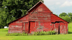 Old red rustic barn 2 Stock Footage
