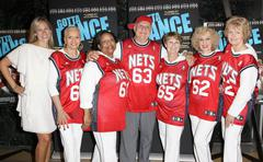 Kimberly garris and the new jersey nets senior dance team.premiere of the doc Stock Photos